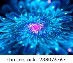 Magic Glowing Blue Fractal...