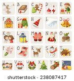 set of christmas items ... | Shutterstock .eps vector #238087417