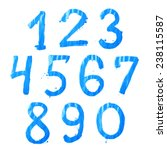 Set Of Ten Number Digit...