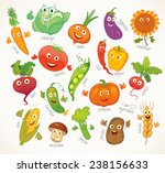 i love vegetables. funny... | Shutterstock .eps vector #238156633