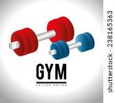 fitness design over white... | Shutterstock .eps vector #238165363
