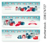 three christmas banners with... | Shutterstock .eps vector #238176727