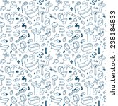 hand drawn plumbing seamless... | Shutterstock .eps vector #238184833
