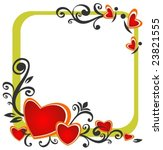 stylized romantic pattern with... | Shutterstock .eps vector #23821555
