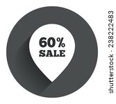 60  sale pointer tag sign icon. ...
