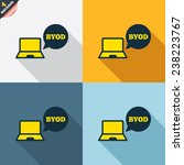 byod sign icon. bring your own... | Shutterstock .eps vector #238223767
