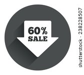 60  sale arrow tag sign icon....