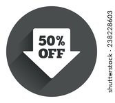 50  sale arrow tag sign icon....