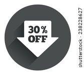 30  sale arrow tag sign icon....