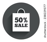 50  sale bag tag sign icon....