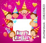 birthday background with happy... | Shutterstock .eps vector #238233823