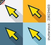 mouse cursor sign icon. pointer ...   Shutterstock .eps vector #238234603