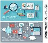 seo optimization  programming... | Shutterstock .eps vector #238248253