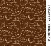 bread  seamless pattern with... | Shutterstock .eps vector #238254937