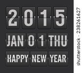 new year counter | Shutterstock .eps vector #238261627