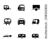 vector trailer icon set on... | Shutterstock .eps vector #238262803