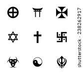 vector religious symbols icon... | Shutterstock .eps vector #238262917