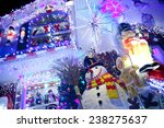 christmas decoration at... | Shutterstock . vector #238275637