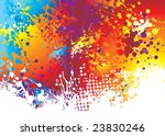 rainbow background with ink... | Shutterstock .eps vector #23830246