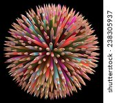 colored pencils arranged in... | Shutterstock . vector #238305937