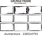 grunge frame set. vector... | Shutterstock .eps vector #238314793