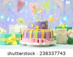 delicious birthday cake on... | Shutterstock . vector #238337743
