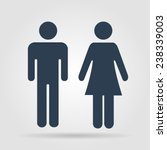 man and woman icons  toilet... | Shutterstock . vector #238339003
