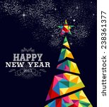 happy new year 2015 greeting... | Shutterstock .eps vector #238361377