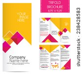 trifold business brochure | Shutterstock .eps vector #238428583
