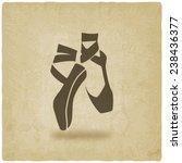 ballet dance studio symbol old... | Shutterstock .eps vector #238436377