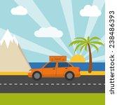 summer vacation concept card... | Shutterstock . vector #238486393