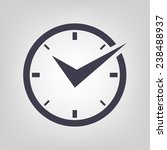 watch icon black vector time... | Shutterstock .eps vector #238488937