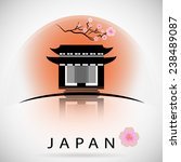 japanese traditional building...   Shutterstock .eps vector #238489087