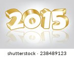 new 2015 year greeting card ... | Shutterstock .eps vector #238489123