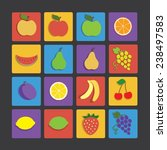 flat icon fruit
