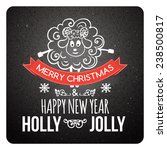 merry christmas lettering with  ... | Shutterstock .eps vector #238500817