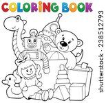 coloring book heap of toys  ... | Shutterstock .eps vector #238512793