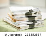 stack of business report paper... | Shutterstock . vector #238553587