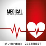 medical design over white and... | Shutterstock .eps vector #238558897