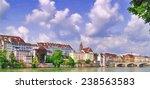 basel  riverside   illustration ... | Shutterstock . vector #238563583