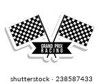 racing design over white... | Shutterstock .eps vector #238587433
