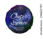galaxy watercolor vector design.... | Shutterstock .eps vector #238602787