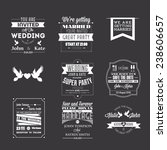 set of wedding invitations ... | Shutterstock .eps vector #238606657