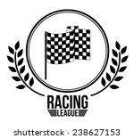 race design over white... | Shutterstock .eps vector #238627153