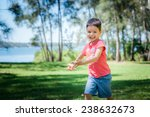 4 year old mixed race asian...   Shutterstock . vector #238632673