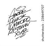 hand written calligraphy... | Shutterstock .eps vector #238649707