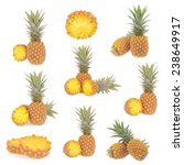 pineapples collection isolated... | Shutterstock . vector #238649917