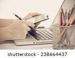 businessman analyzing...   Shutterstock . vector #238664437