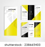 brochure template design vector | Shutterstock .eps vector #238665403