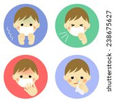 cold symptoms of child   vector ... | Shutterstock .eps vector #238675627
